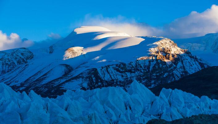 Prøvene ble hentet inn fra isen på Tibetplatået.