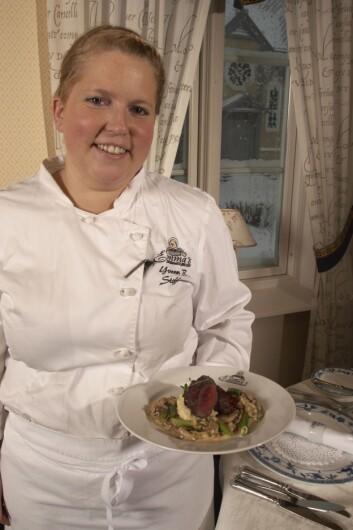 Yvonn Steffensen ved Emmas drømmekjøkken i Tromsø er en av kjøkkensjefene som deltok i blindtesten.