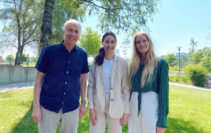 Professor Reidar Tyssen og medisinstudenter og forskere Sara Tellefsen Nøland og Hildegunn Taipale ble litt overrasket over at fastleger ikke var mer utsatt for trusler og vold enn andre leger.