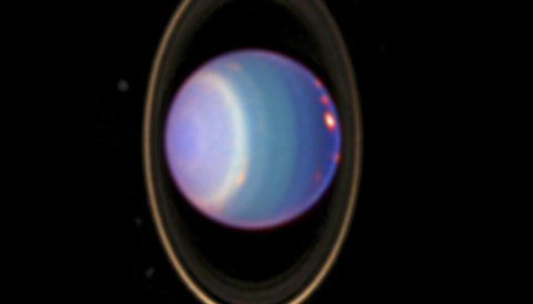 """""""Bilde av Uranus, tatt med Hubble-teleskopet. (Foto: NASA)"""""""