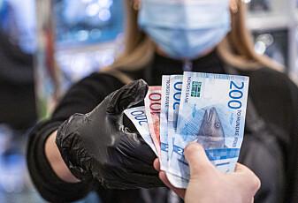 Penger sprer ikke koronavirus