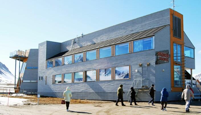 Forskningsstasjonen til Norsk Polarinstitutt.