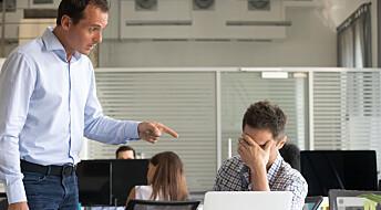 En kjip sjef kan tredoble risikoen din for bli deprimert, ifølge ny studie
