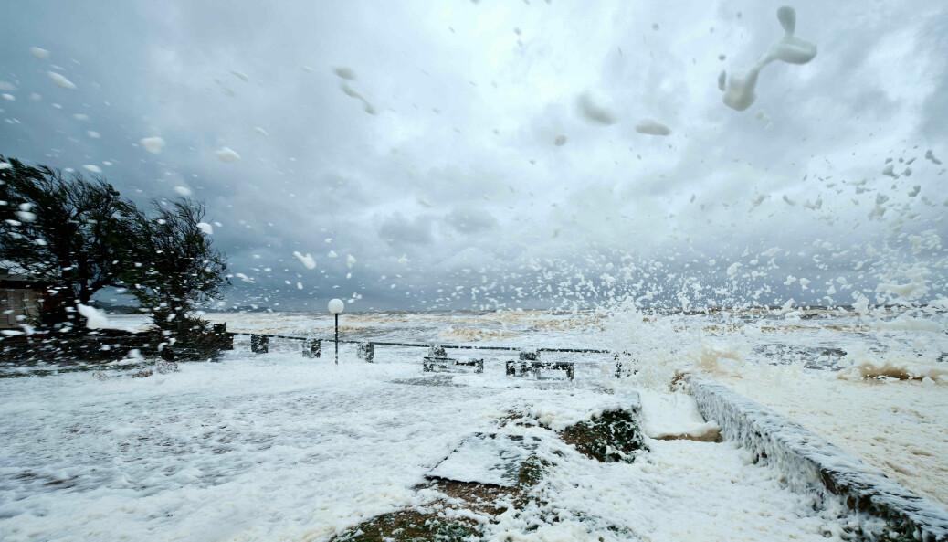 Den nye rapporten forteller at klimaendringer i vår tid er mer omfattende og intense enn før. Illustrasjonsbildet viser storm ved kysten av Uruguay.