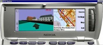 """""""Mobil guide: Sånn kan 3D-kartene se ut i mobiltelefonen. (Foto: TellMaris)"""""""
