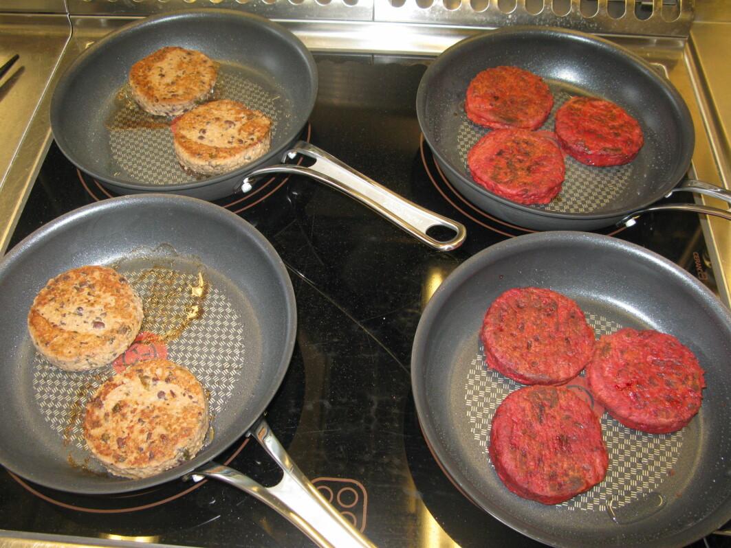 Proteininnholdet i en middag bør være 20 gram. Blant vegetarburgerne varierer proteininnholdet fra 4,9 til 21 gram per 100 gram, og de fleste burgerne veier litt over 100 gram.