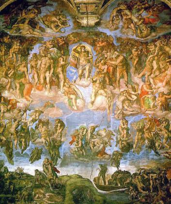 Den kristne dommedag slik den er fremstilt av Michelangelo Det sixtinske kapell i Vatikanet.