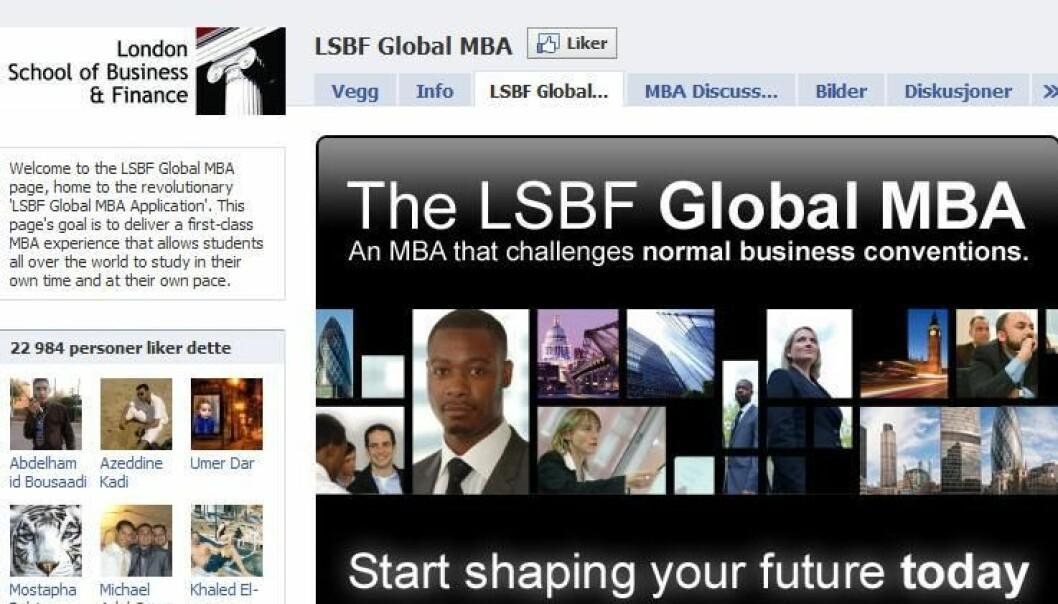 Her er starten på ei mastergradsutdanning - likt av mer enn 20 000 facebookere.