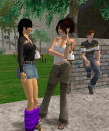 """""""Det å velge seg en attraktiv avatar kan være strategisk lurt. (Bilde:Second Life/Linden Research, Inc.)"""""""