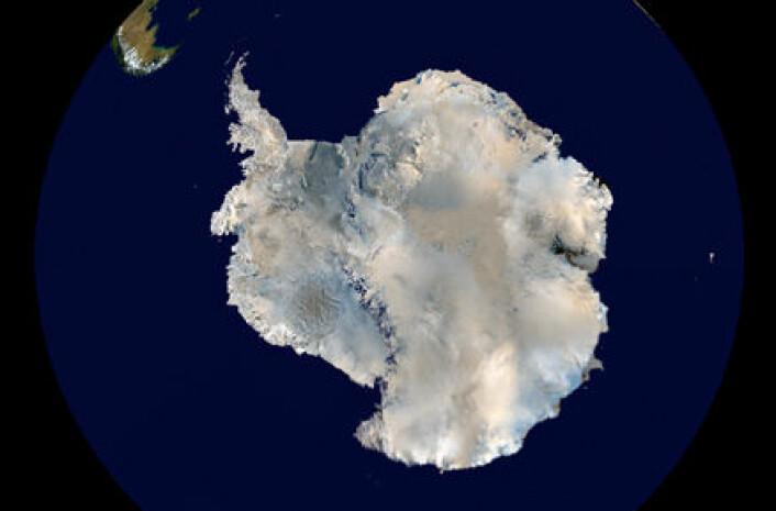 """""""Satellittbilde av Antarktis."""""""