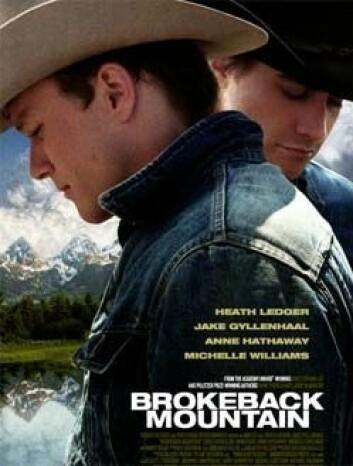 Brokeback Mountain, plakat fra filmen. (Foto/Copyright: Sandrew Metronome Norge)