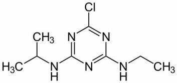 """""""Atrazin. (Kilde: Wikimedia Commons)"""""""
