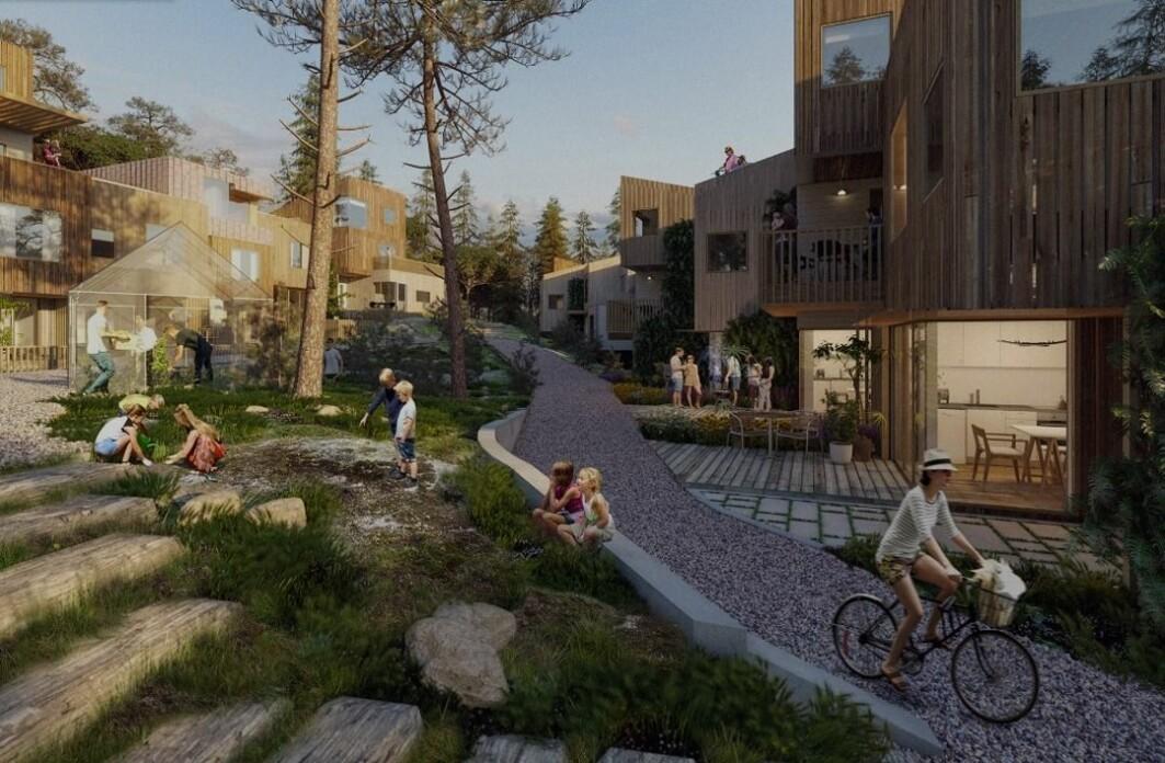 Verktøyet EE Settlement gjør det enkelt å sammenlikne ulike utbyggingsplaner og forstå hvilke tiltak som har størst klimaeffekt. Boligområdet Hamrevann i Kristiansand var case for testing av verktøyet.