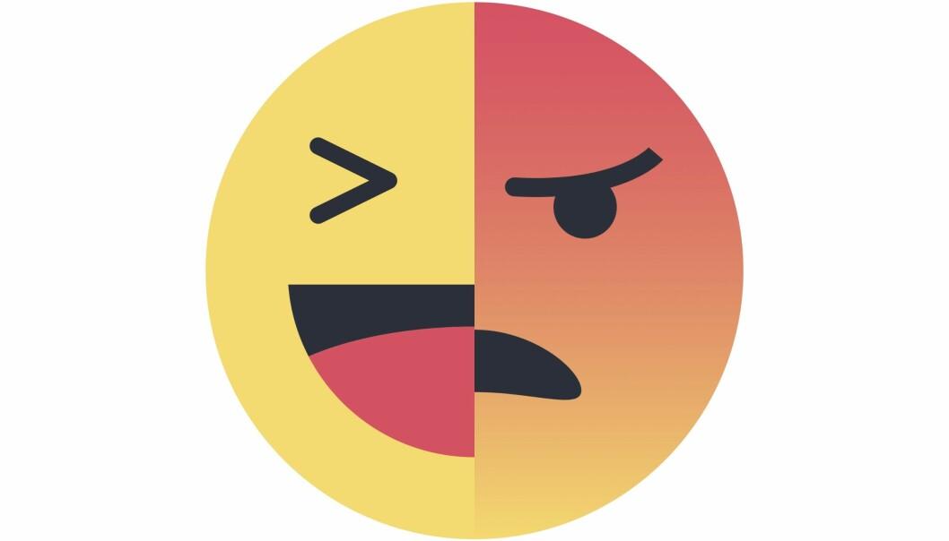 Klimanyheter vekker sterkt engasjement. På Facebook uttrykkes det gjerne med slike symboler.
