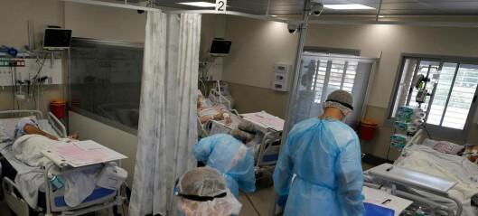 Smittetilfeller og sykehusinnleggelser øker i Israel, til tross for at 78 prosent over tolv år er vaksinert