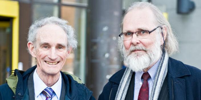 Lord May sammen med leder for CEES Nils Christian Stenseth. (Foto: Andreas B. Johansen)