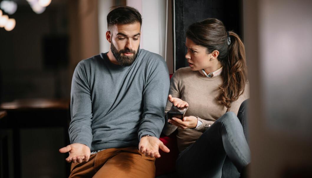 De som baserte selvfølelsen sin på å ha en vellykket økonomi, hadde flere problemer i parforholdet.