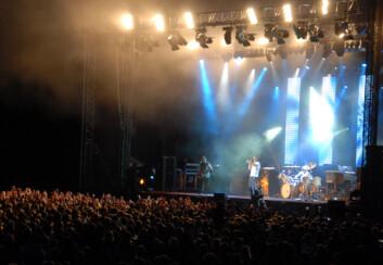 6000 tilskuere skulle ledes da Deep Purple var på Steinkjerfestivalen i 2008. (Foto: Morten Stene)
