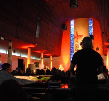 Magiske opplevelser i Steinkjer kirke. (Foto: Morten Stene)