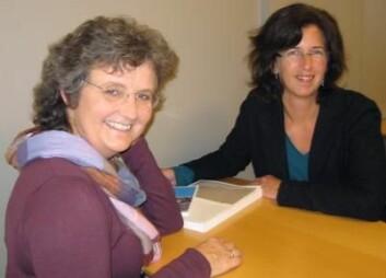 Ingeborg Strømseng Sjetne (t.v.) og Christine Tvedt. (Foto: Anne Marie Müller)