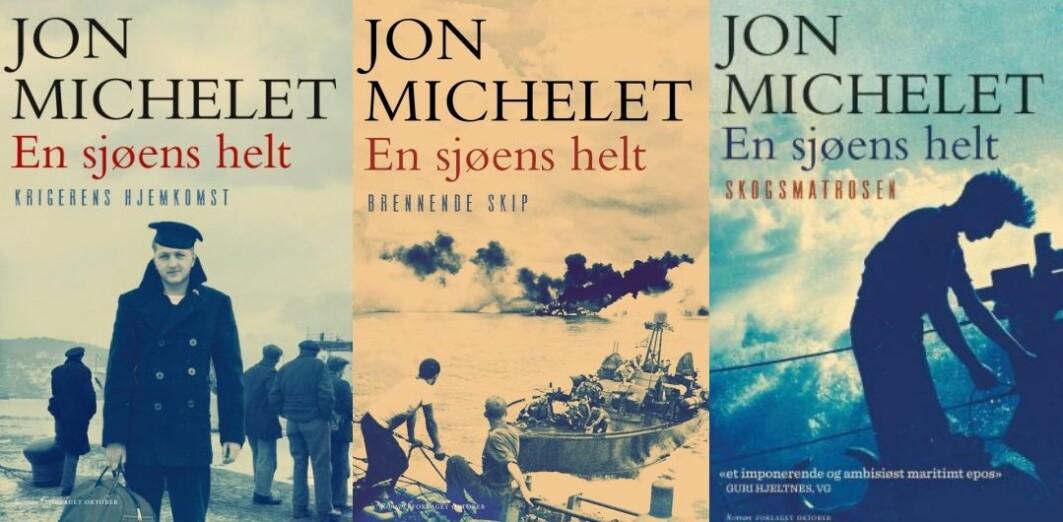 Romanserien «En sjøens helt» av Jon Michelet kom ut mellom 2012 og 2018 og har solgt i til sammen en million eksemplarer.