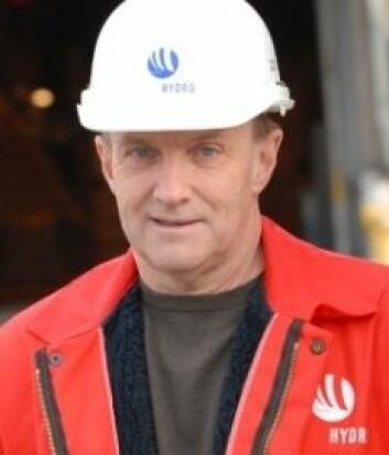 Hovedtillitsvalgt Bjørn Nedreaas ved Hydro Aluminium Karmøy. (Foto: Sigrid Folkestad)