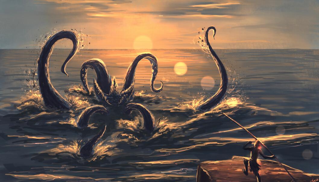 Slik trodde folk at Kraken så ut.
