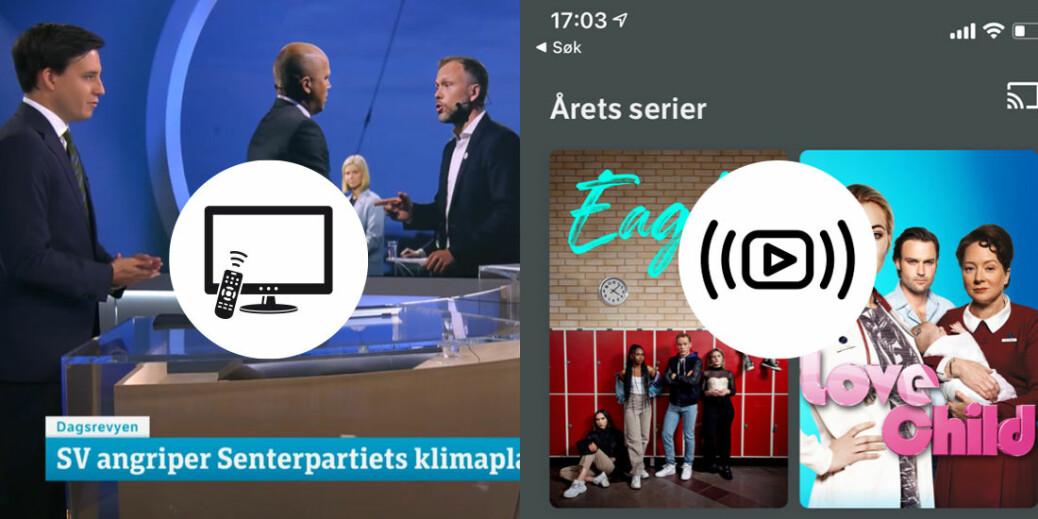 Sammensetningen på programmene til NRK og TV2 er annerledes på strømmetjenestene deres enn tilbudet de har på lineær-tv.