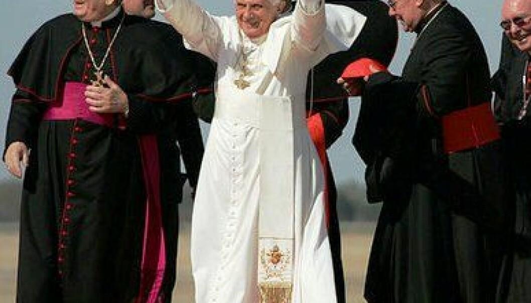 Pave Benedict XVI på besøk i USA. (Foto: Det hvite hus)