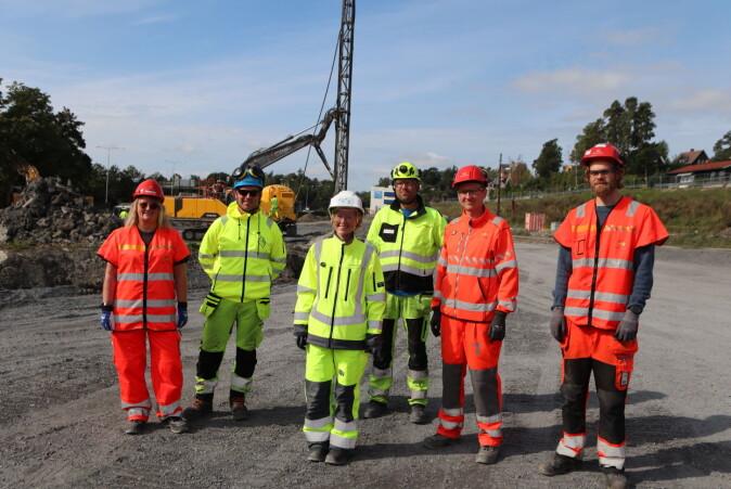 Samarbeid om feltforsøk: Ragnhild Sarsten (Bane NOR), Andreas Eide (Argeo), Atle Gerhardsen (Cautus Geo), Tonje Eide Helle (Multiconsult), Eivind S. Juvik og Petter Magnus Jensen (Statens vegvesen).