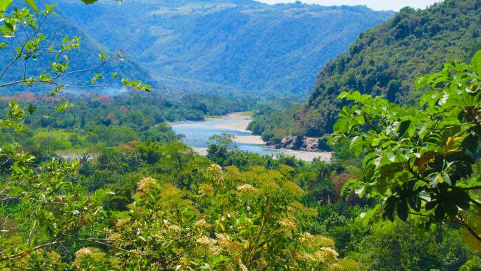 Huallaga-elven i Tingo María.