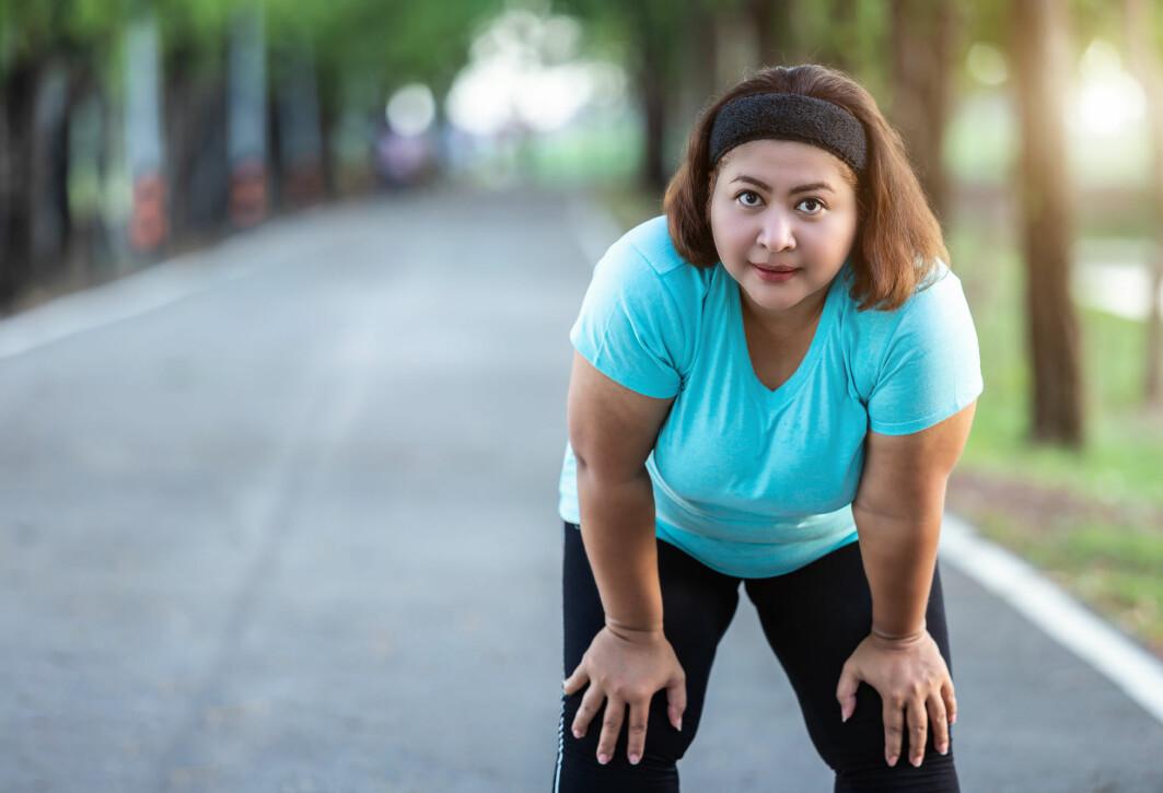 Veier du for mye, kan trening faktisk virke dårligere enn hos slanke.