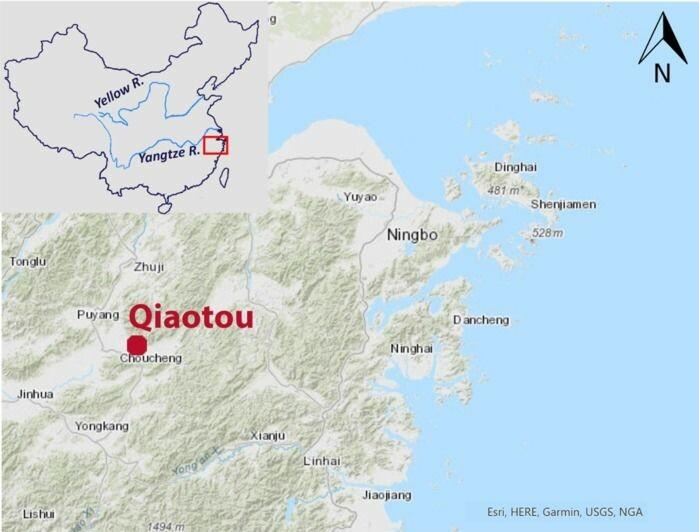 Kart som viser funnstedet.
