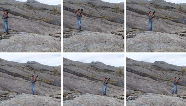 Et lite skritt om gangen for Olivier Galland, men et stort skritt for virtuelt geologisk feltarbeid.