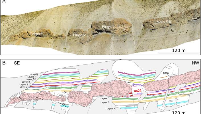 Fra slike bilder og kart kan geologene hente ut massevis av informasjon.