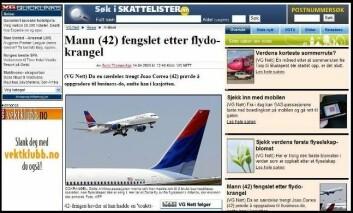 Nytt ord: Flydokrangel. (Faksimile VG Nett)