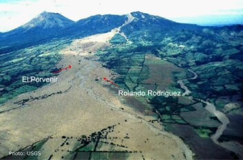 Nedbøren fra orkanen Mitch utløste hele 10 000 leir- og jordskred i Nicaragua i løpet av to dageret i oktober 1998. Lahar-skredet i Casita utslettet to landsbyer. (Foto: USGS)
