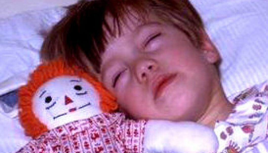 Syke barn sover mindre