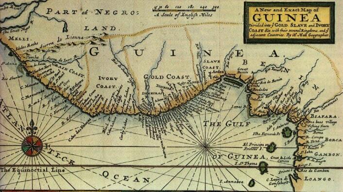 Vestindisk-guineisk Kompagni hadde hovedansvar for den danske slavehandel fra Gullkysten til Karibia.