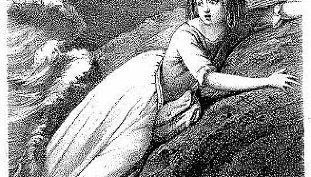 Litografi av Pérignon. Fra Madame la Comtesse de Germanie : La petite fille de Robinson (1844).