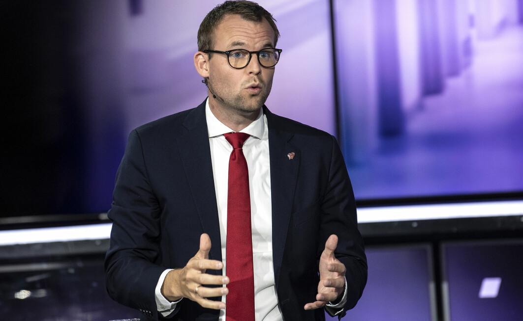 En ny studie viser at hvordan folk beskrev lederen av et parti hadde vel så mye å si for hva de stemte, som innholdet i politikken. Her er Kjell Ingolf Ropstad (Kristelig Folkeparti) på partilederdebatt på TV2 31. august.