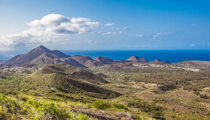 Øya Ascension ligger midt i Atlanterhavet.