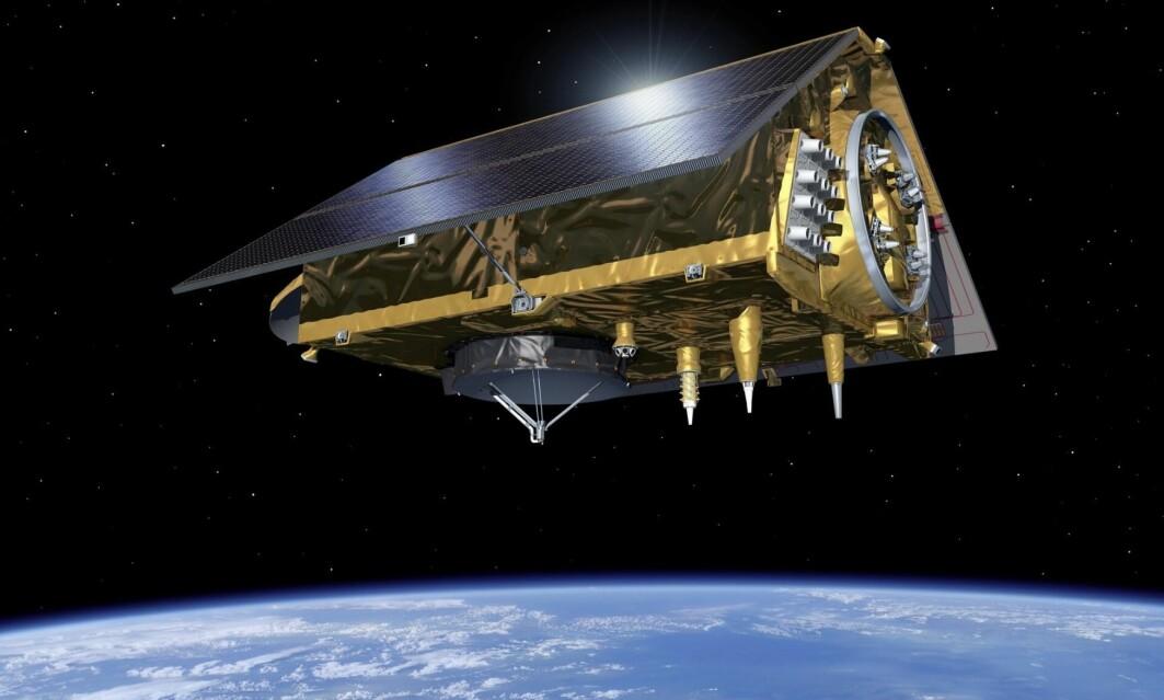 Den første Sentinel-6 satellitten flyr nå parallelt med Jason-3 og skal snart overta stafettpinnen i denne banen.
