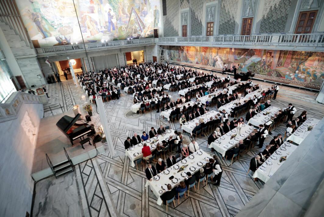 Fra en festmiddag for rådmenn og ordførere i Oslo rådhus i 2017.
