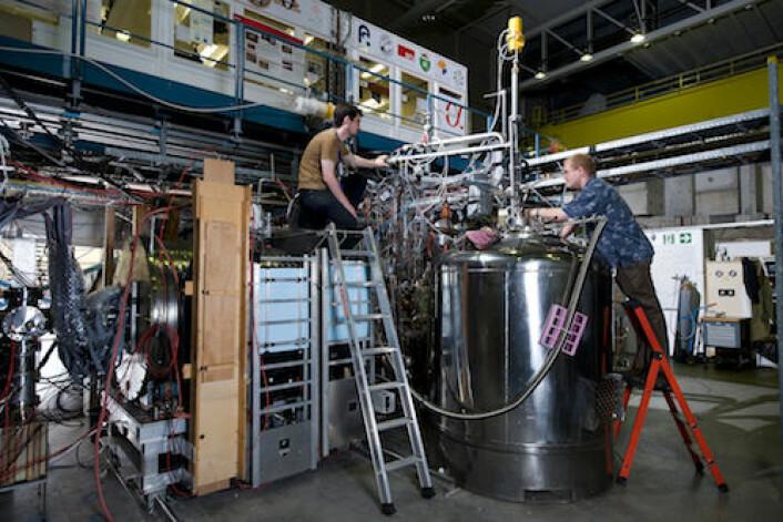 ALPHA-eksperimentet, CERN (Foto: Niels Madsen, CERN)