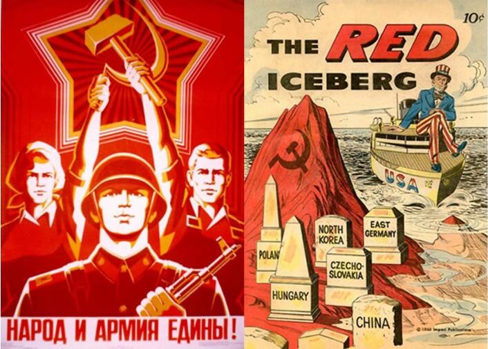 """""""Den kalde krigs propaganda var ofte preget av amerikansk eksepsjonalisme og sovjetisk nasjonalsjåvinisme."""""""