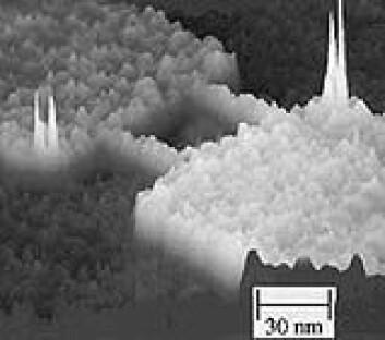 """Single Electron Transistor. (Bilde: Centre For Quantum Computation)"""