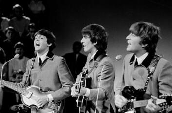 The Beatles, også kalt The Fab Four, ved tre av dem, Paul McCartney, George Harrison og John Lennon, i 1964. (Foto: Wikimedia Commons)