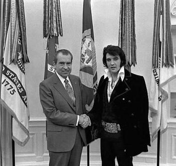 """""""Den myke makten: President Richard Nixon og Elvis Presley i Det hvite hus."""""""