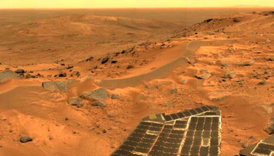 Da vannet flommet på Mars